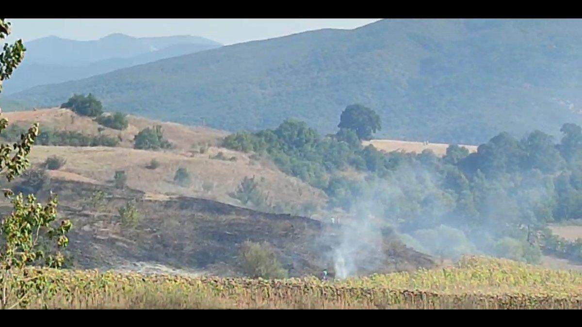 Bursa da tarla yangınına giden orman itfaiyesi kaza yaptı #2