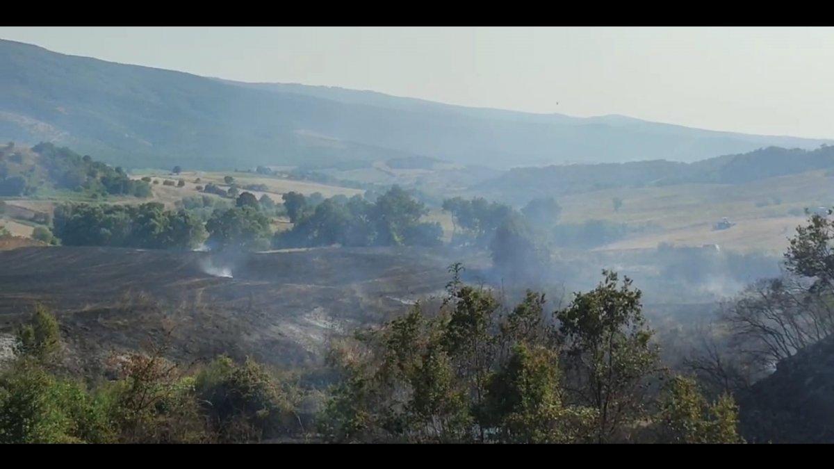 Bursa da tarla yangınına giden orman itfaiyesi kaza yaptı #4