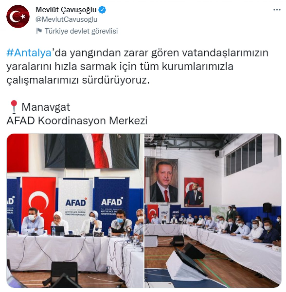 Mevlüt Çavuşoğlu yangın sonrası vatandaşların durumu hakkında bilgi aldı #2