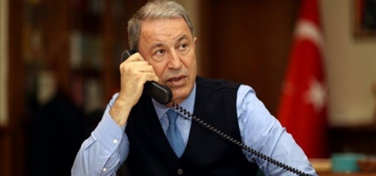 Milli Savunma Bakanı Hulusi Akar, ABD li meslektaşı Austin ile telefonda görüştü #1