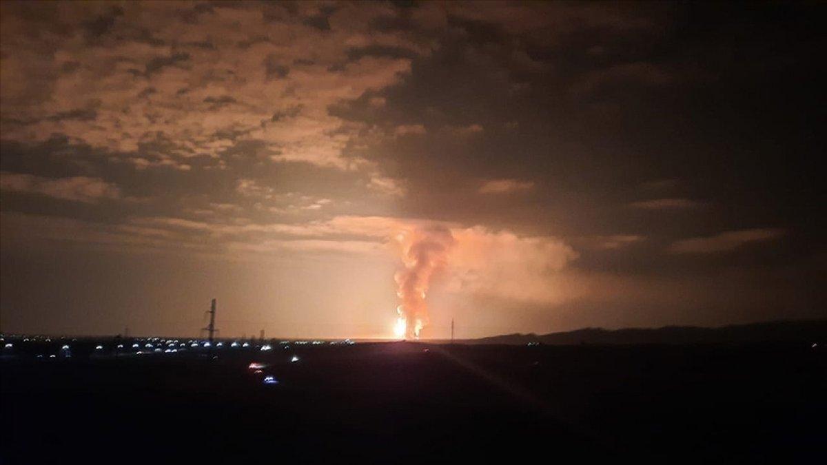 Kazakistan da askeri birliğin mühimmat deposunda patlama: 12 si asker 66 yaralı #1