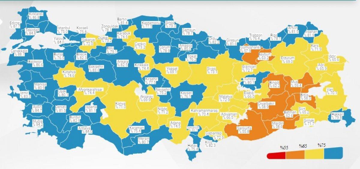 Türkiye korona haritasında İstanbul mavi oldu #1