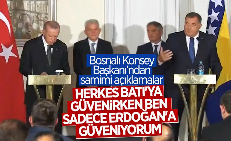 Bosna Hersek Devlet Başkanlığı Konseyi Başkanı Dodik'in Cumhurbaşkanı Erdoğan'a güveni