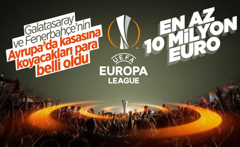 Galatasaray ve Fenerbahçe'nin UEFA geliri belli oldu