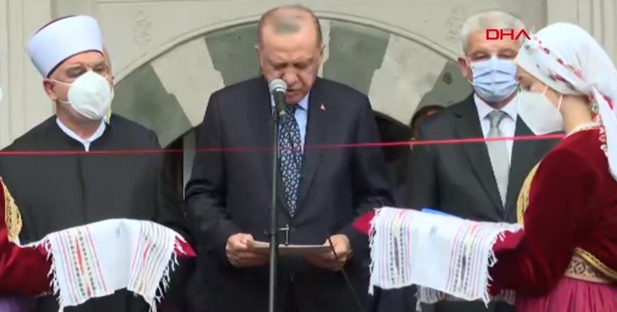Cumhurbaşkanı Erdoğan Saraybosna'da Başçarşı Camii nin açılışına katıldı #1