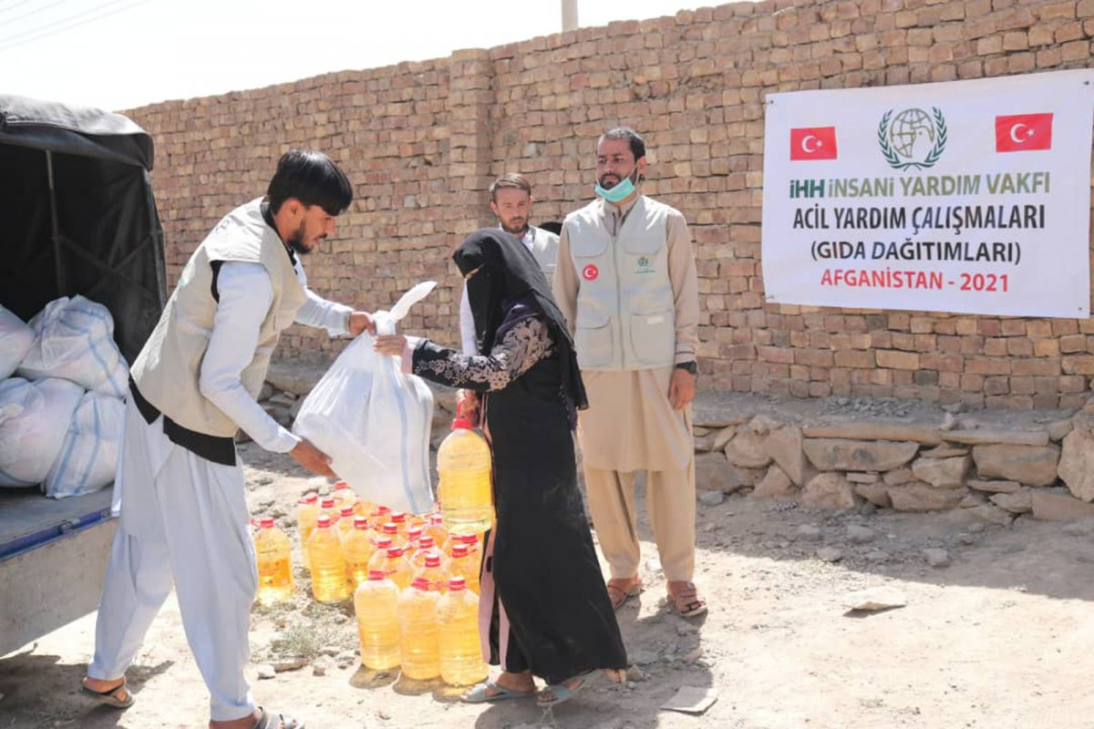 İHH, Afganistan ın başkenti Kabil de 50 aileye kumanya dağıttı #5