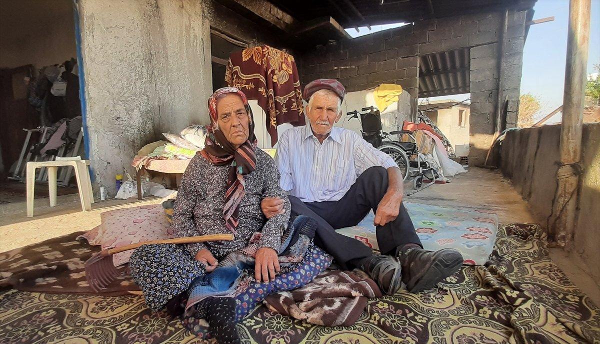 Antalya daki yangından sonra yaşlı çift yeni evlerine kavuştu #6