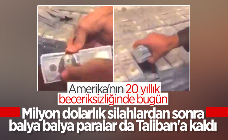 Amerikalı diplomat, Taliban'ın eline geçen para ve silahları paylaştı