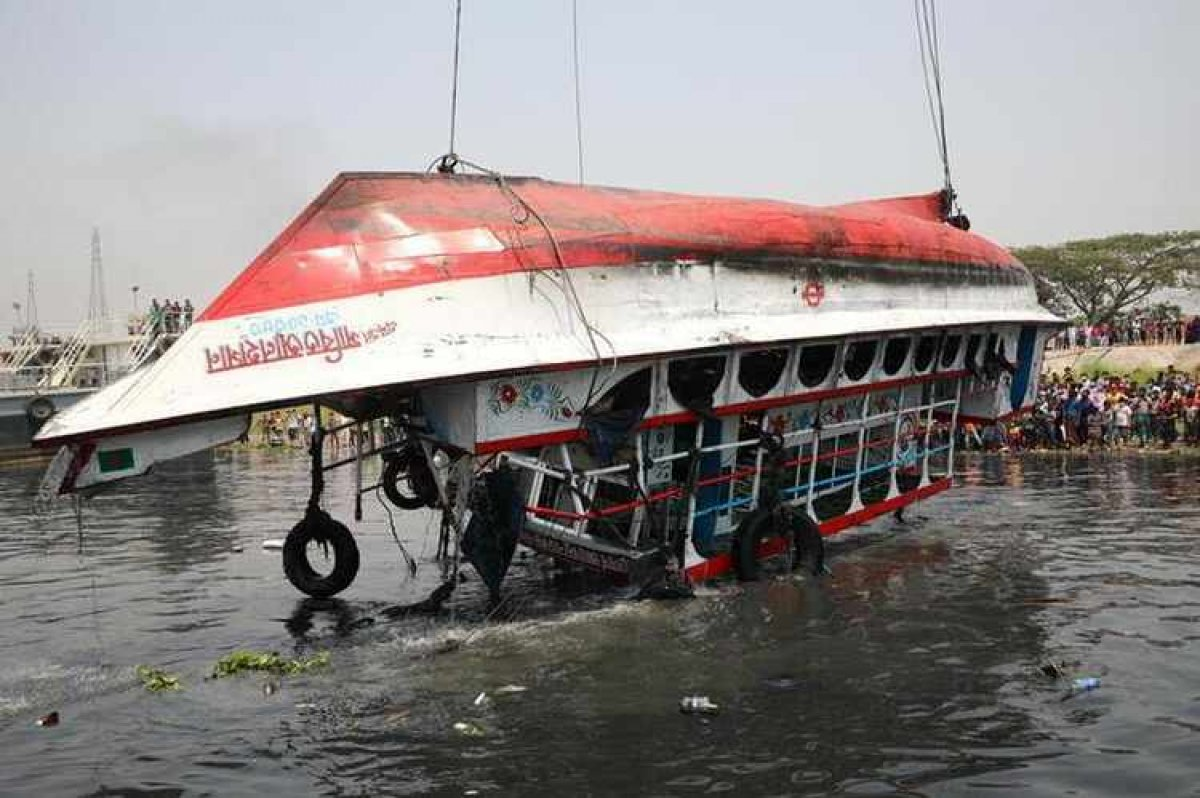 Bangladeş te gemi kazası: 21 ölü #1