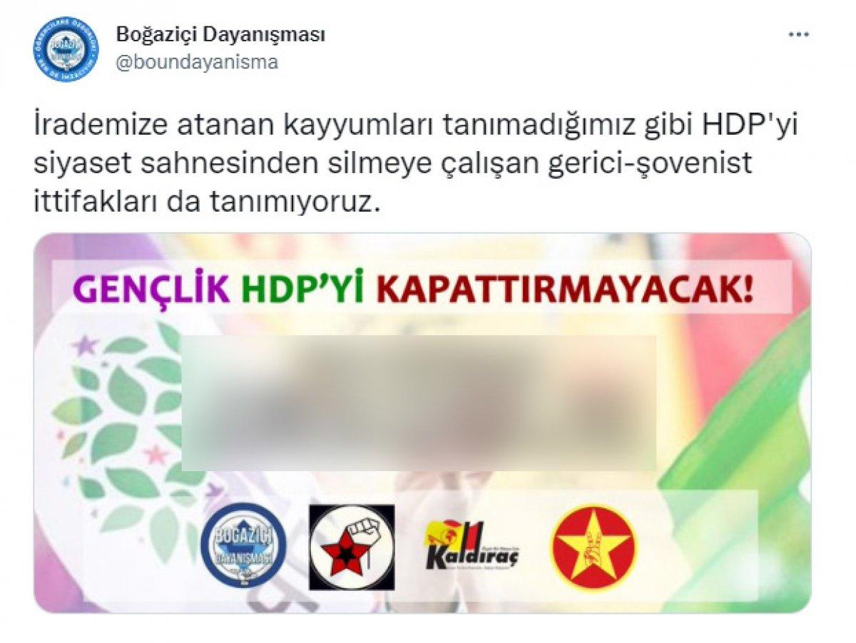 Boğaziçi Üniversitesi ndeki eylemciler HDP yi savunmaya kalktı  #2