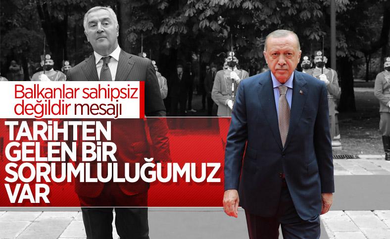 Cumhurbaşkanı Erdoğan'ın Karadağ'daki basın toplantısı konuşması