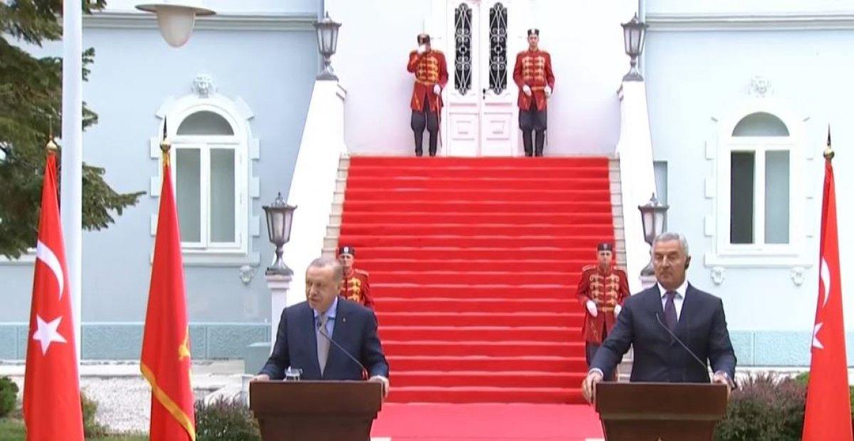 Cumhurbaşkanı Erdoğan ın Karadağ daki basın toplantısı konuşması #1