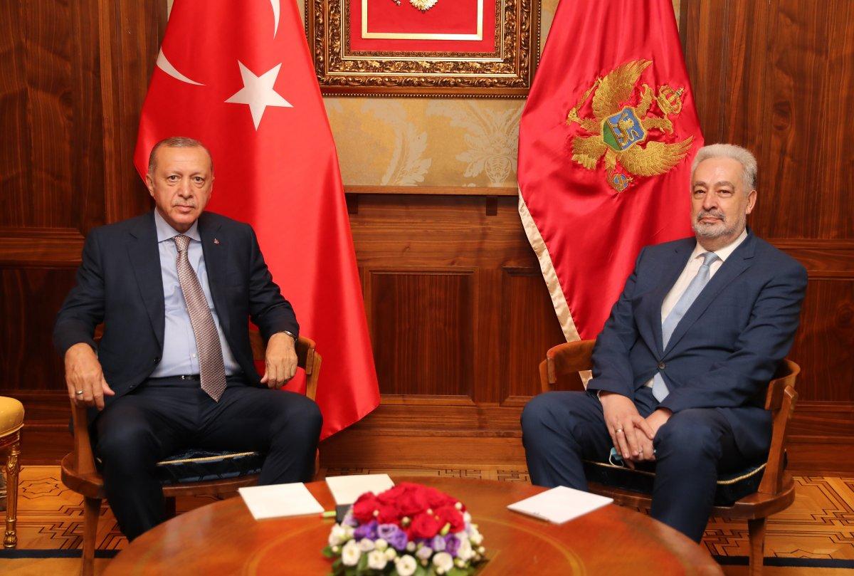 Cumhurbaşkanı Erdoğan, Karadağ Başbakanı Krivokapiç le görüştü #3