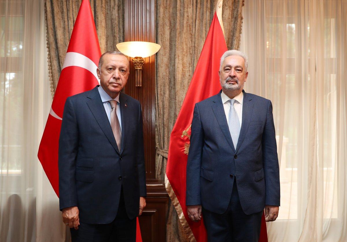Cumhurbaşkanı Erdoğan, Karadağ Başbakanı Krivokapiç le görüştü #1