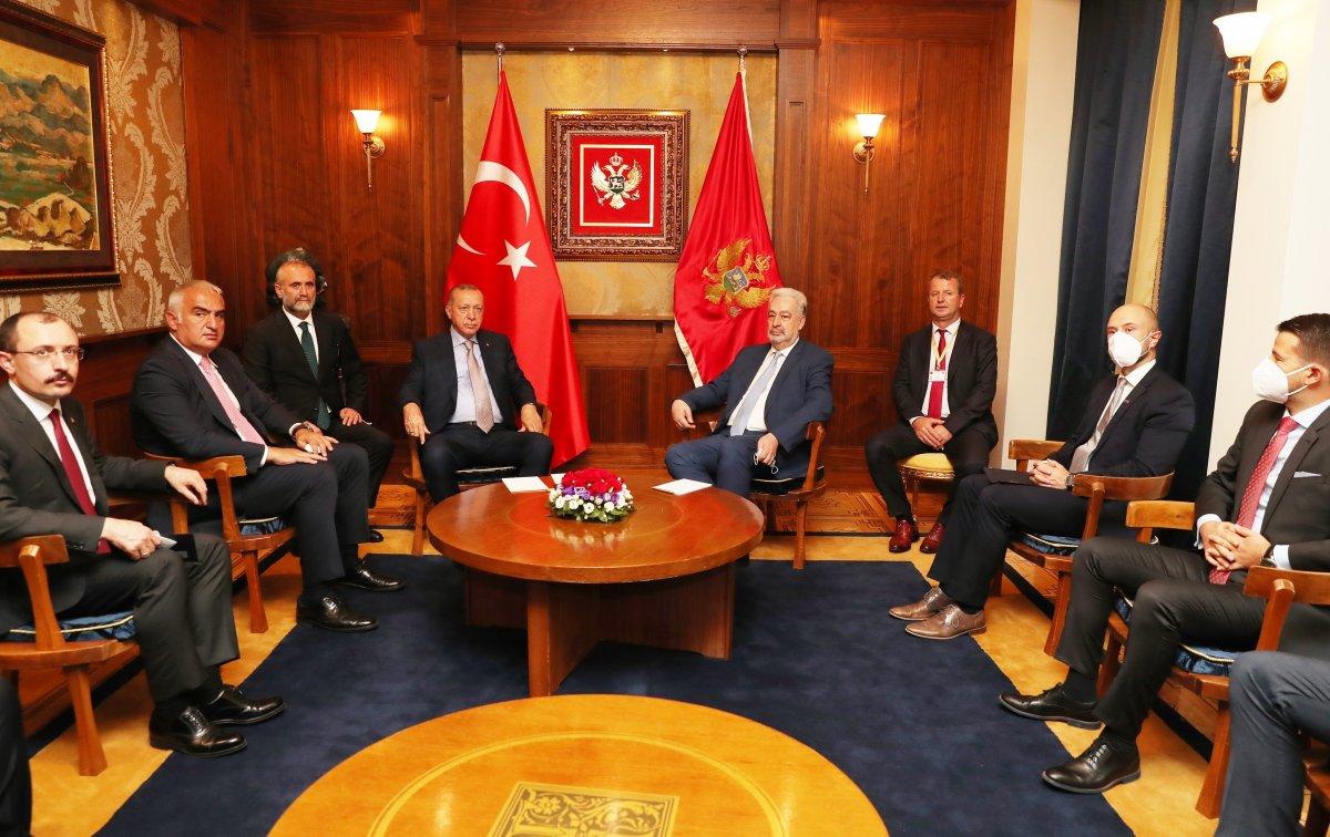 Cumhurbaşkanı Erdoğan, Karadağ Başbakanı Krivokapiç le görüştü #2