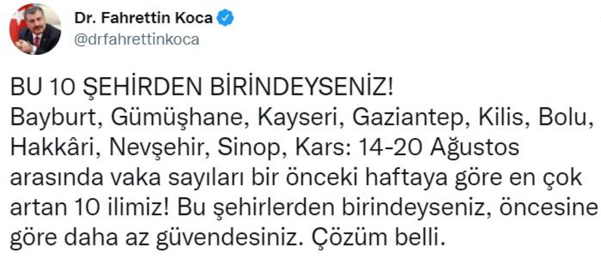 Türkiye nin haftalık koronavirüs vaka sayıları belli oldu #4