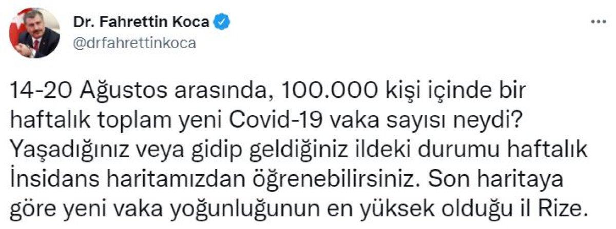 Türkiye nin haftalık koronavirüs vaka sayıları belli oldu #3