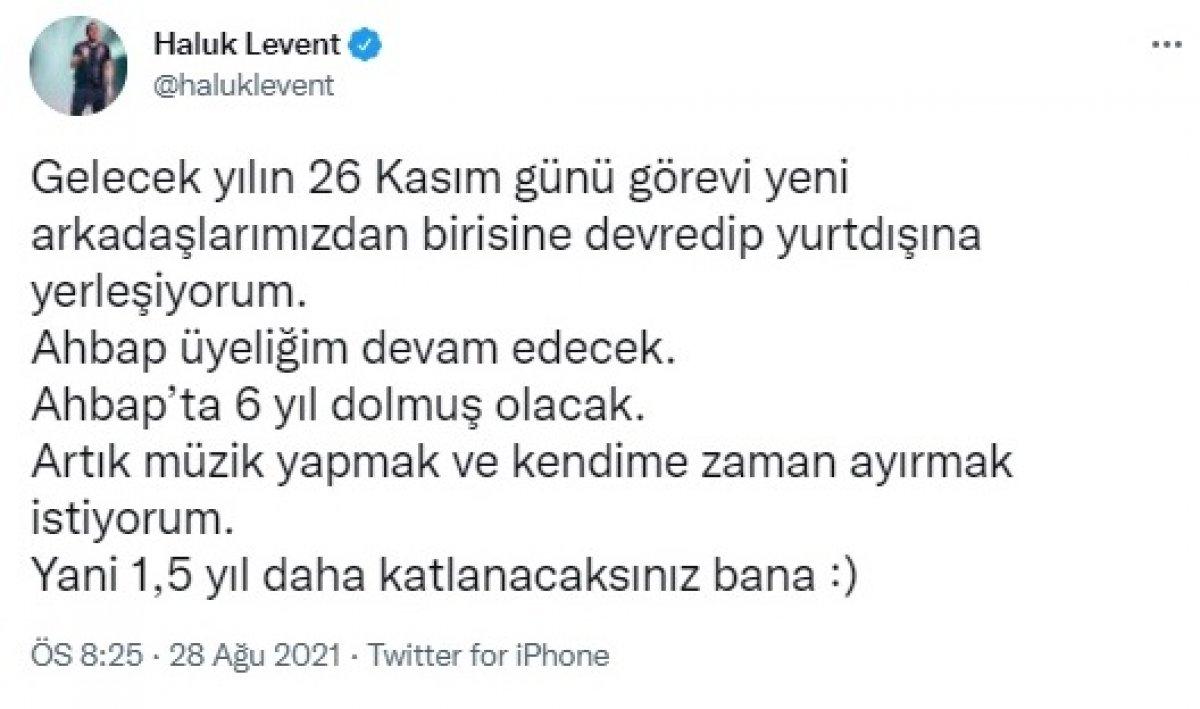 Haluk Levent'ten herkesi şaşırtan karar! Türkiye den ayrılıp yurt dışına yerleşecek #2