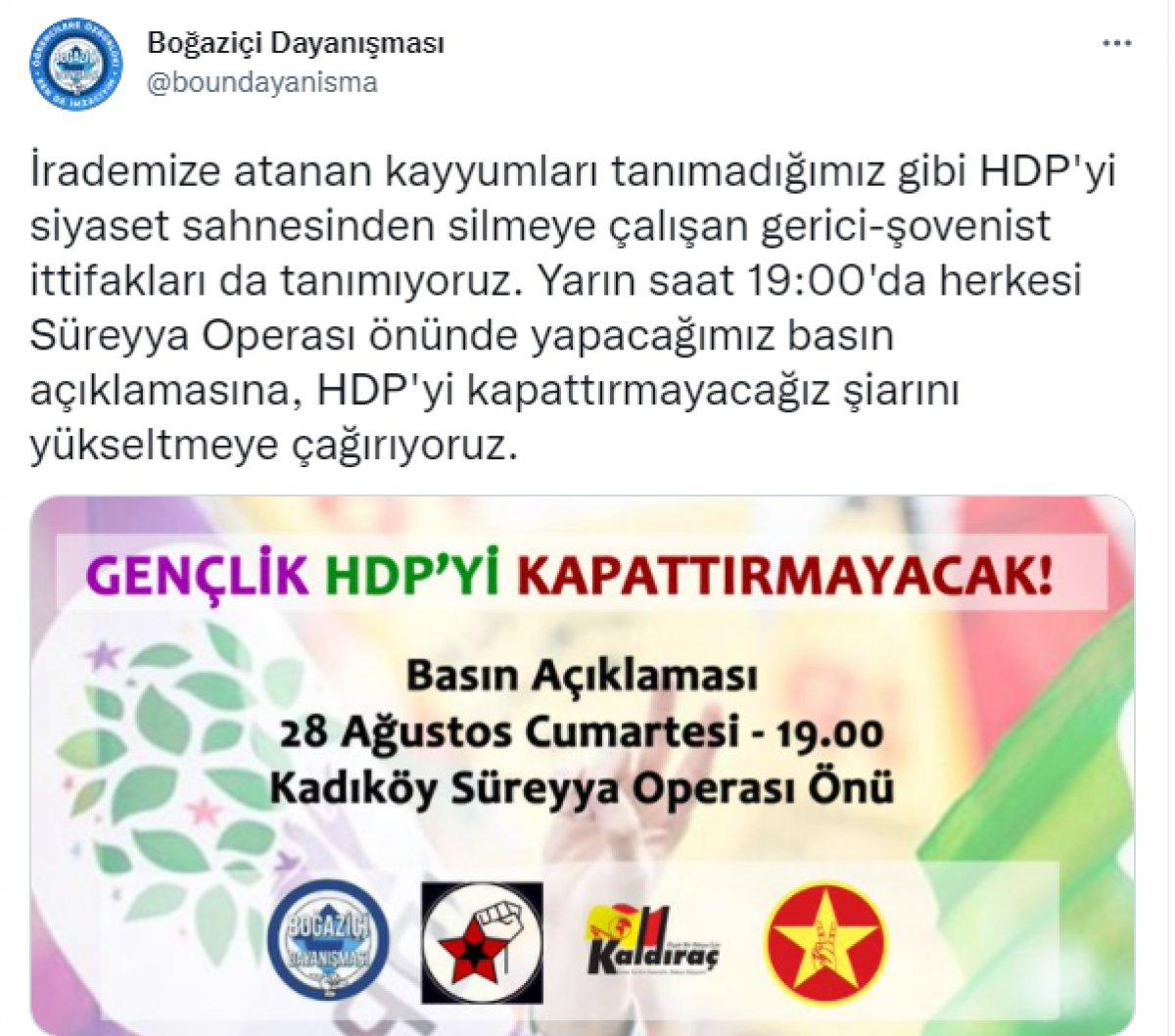 Boğaziçi Üniversitesi ndeki eylemciler HDP yi savunmaya kalktı  #1