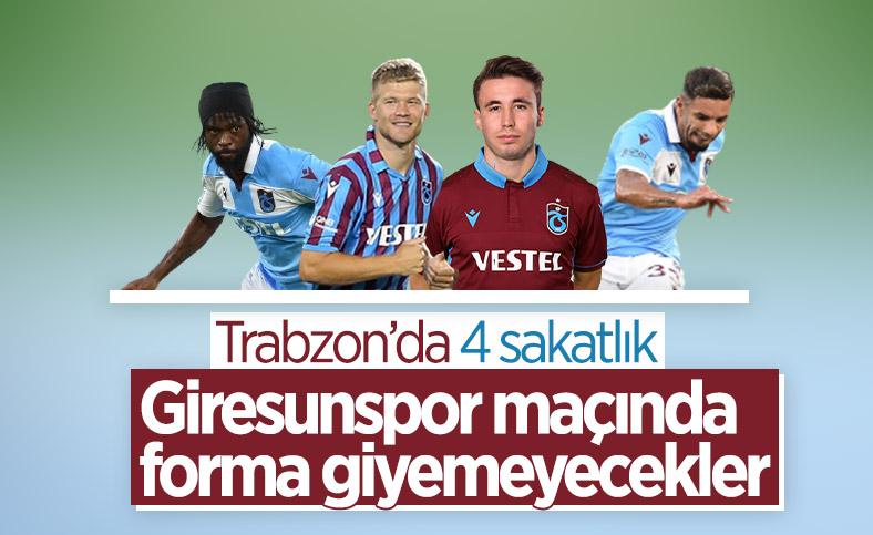 Trabzonspor'da 4 sakatlık