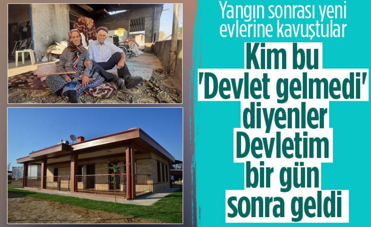 Antalya da yangından etkilenen yaşlı çiftin evi 15 günde yapıldı #5