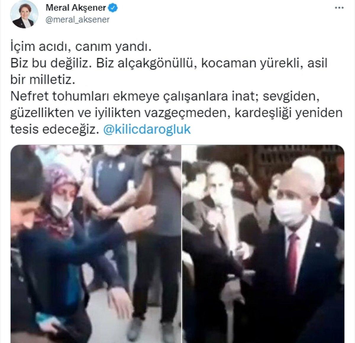 Meral Akşener den çocuğunu Kılıçdaroğlu ndan uzaklaştıran kadına tepki #1