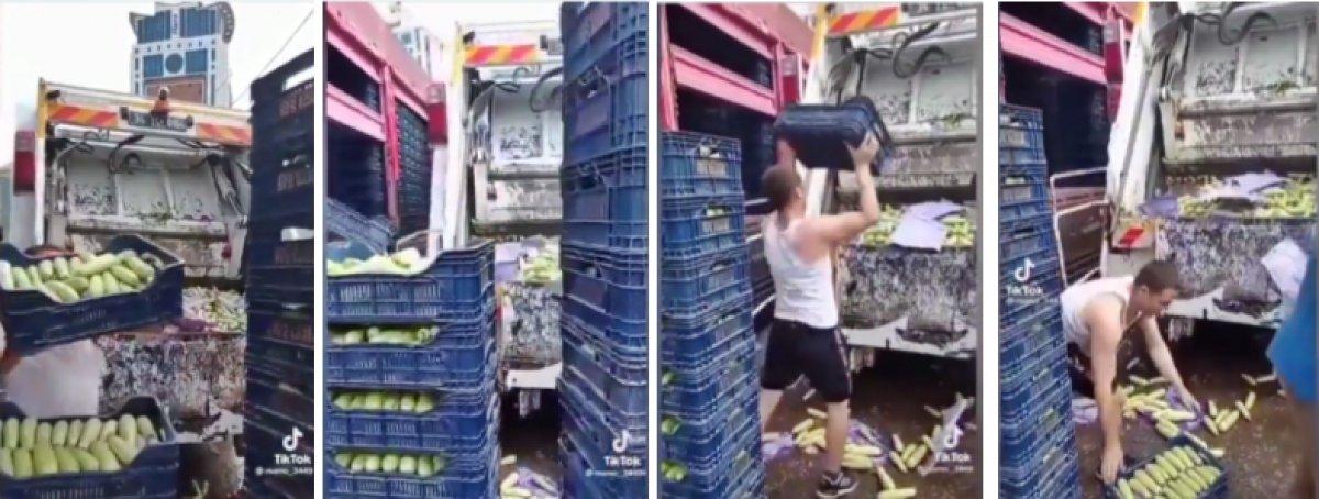Mehmet Muş tan sebze halinde kabakların çöp kamyonuna atılmasıyla ilgili paylaşım #1