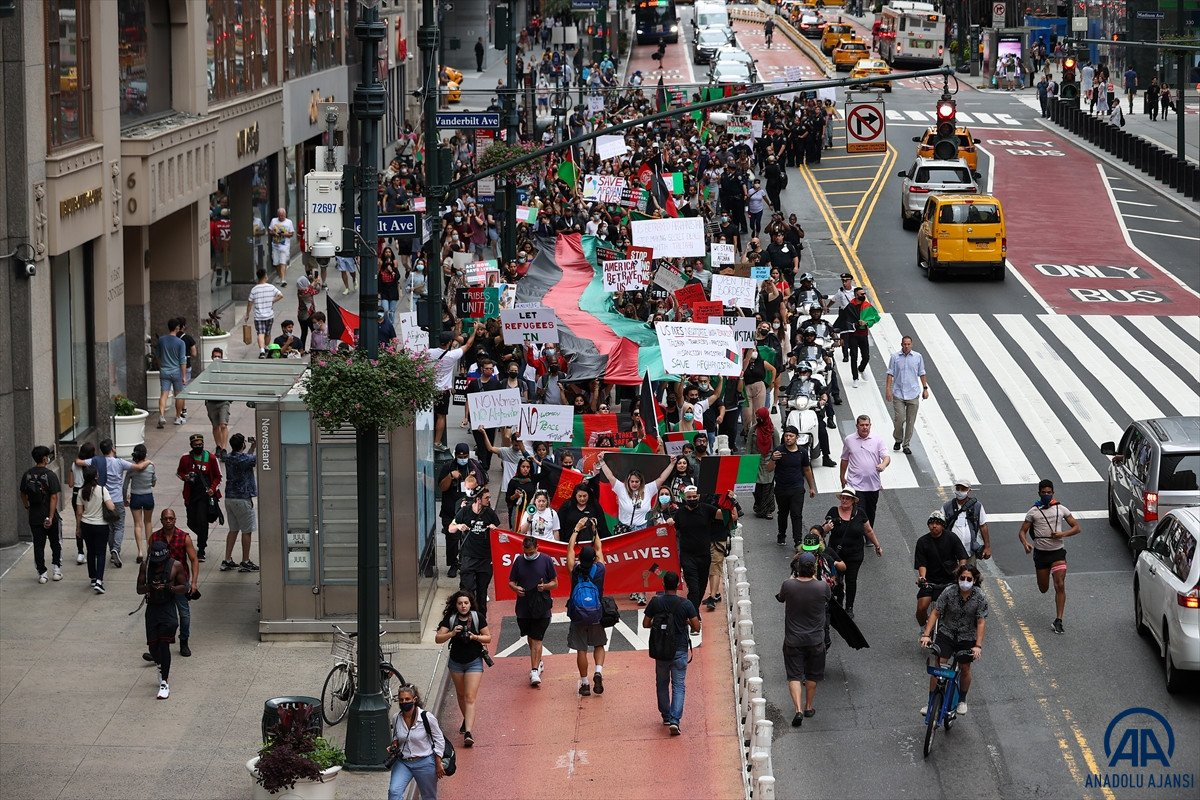 ABD de Taliban protesto edildi #4