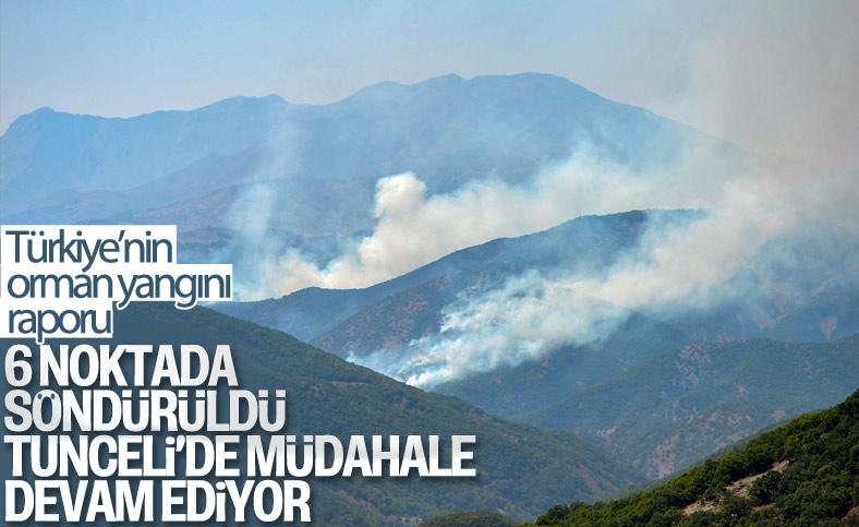 Türkiye genelinde 6 orman yangını kontrol altına alındı