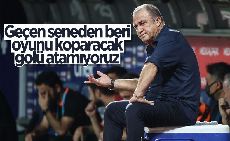 Fatih Terim: Oyunu koparacak golü atamıyoruz