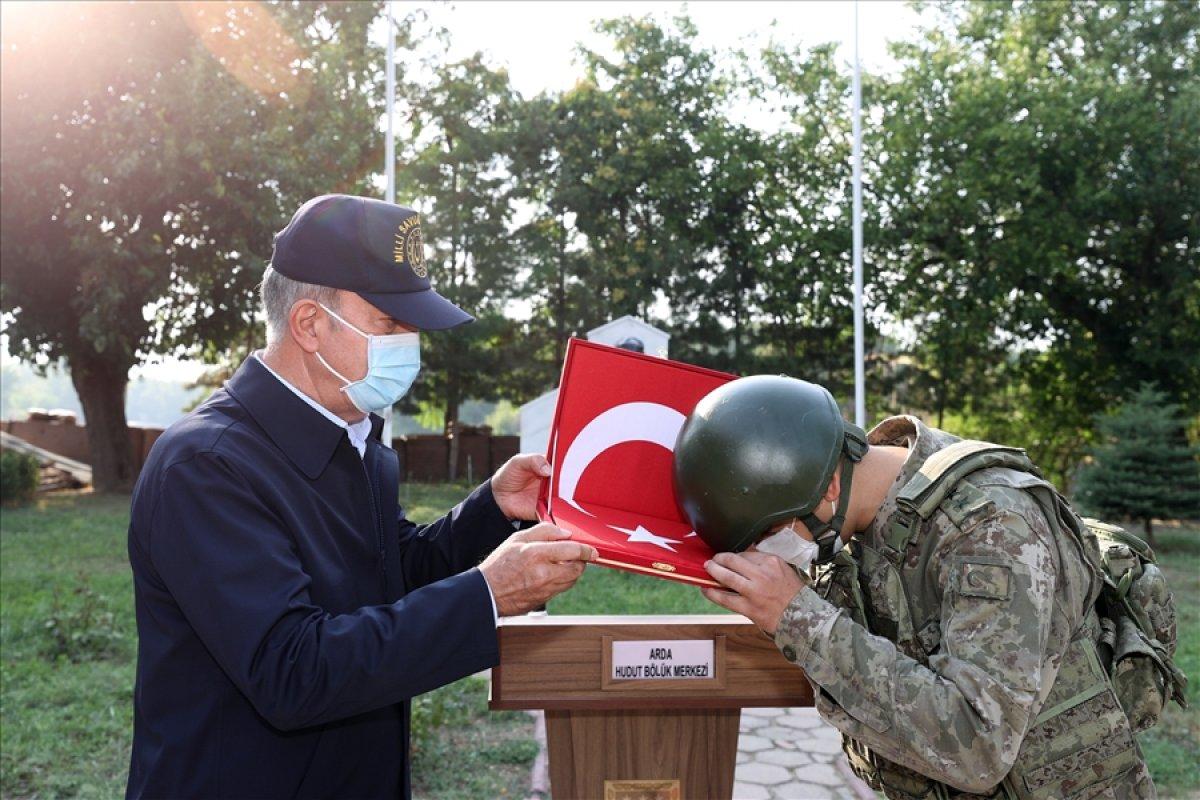Hulusi Akar, TSK komuta kademesi ile birlikte Yunanistan sınırında #5