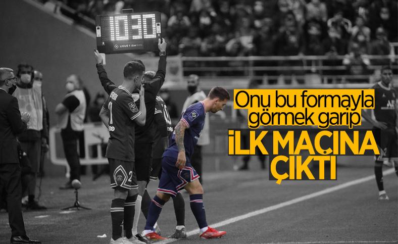 Lionel Messi, PSG ile ilk maçına çıktı