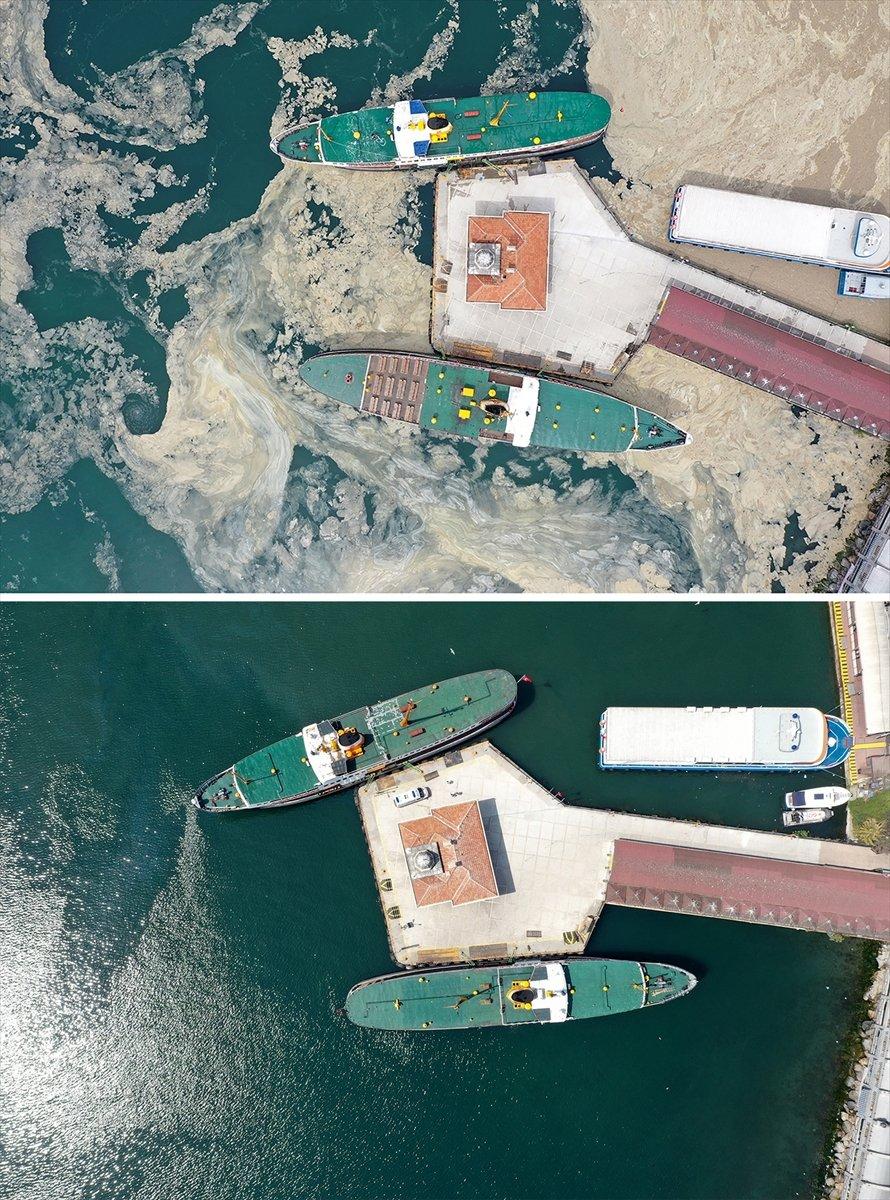 İstanbul sahilleri müsilajdan arındırıldı #14