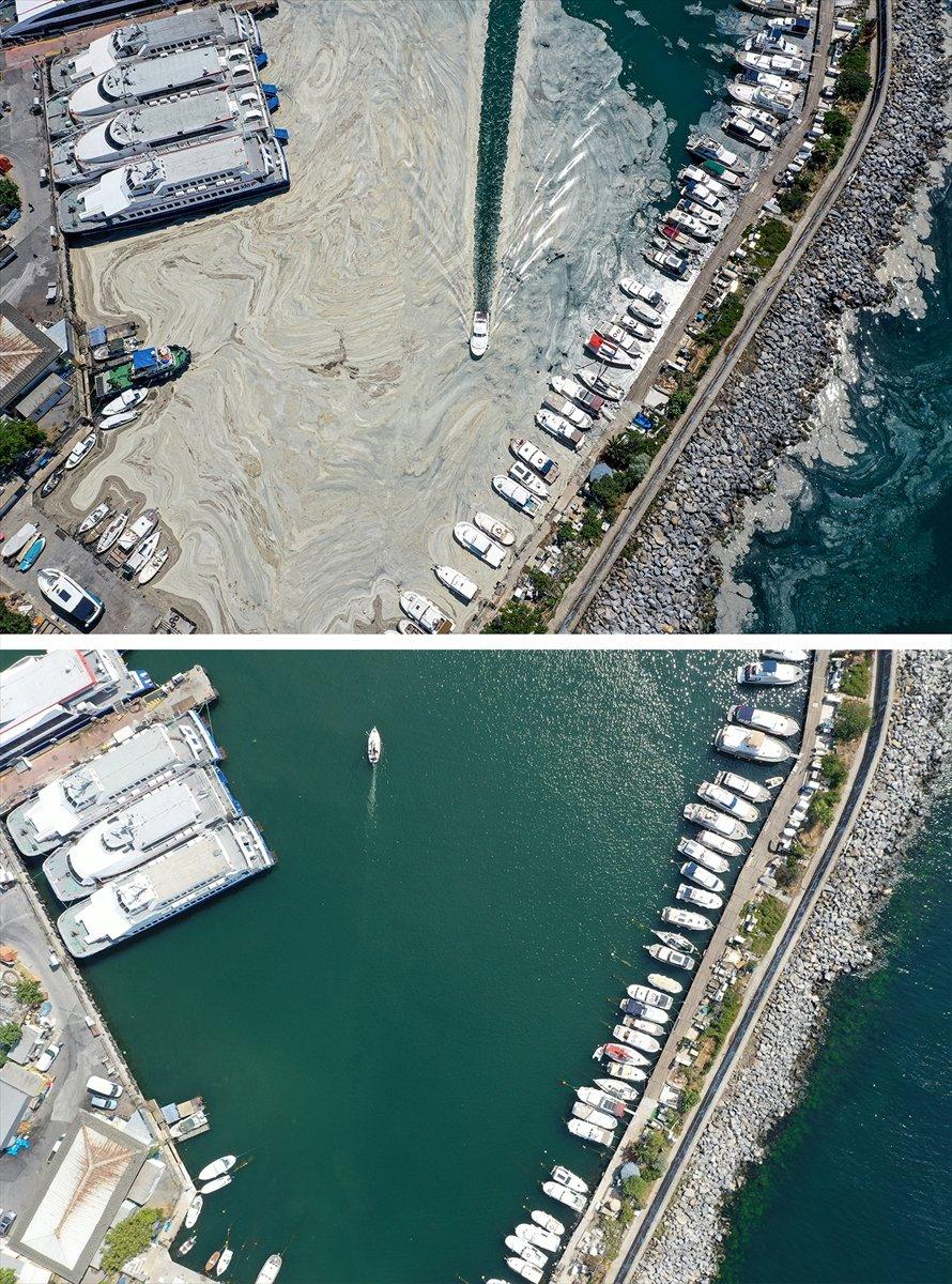 İstanbul sahilleri müsilajdan arındırıldı #13