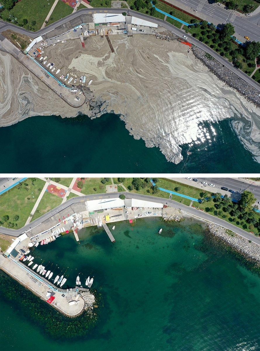 İstanbul sahilleri müsilajdan arındırıldı #12