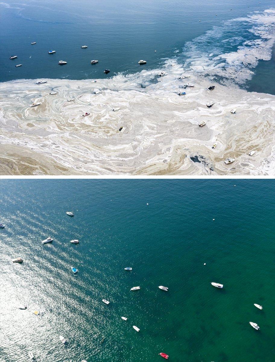 İstanbul sahilleri müsilajdan arındırıldı #5