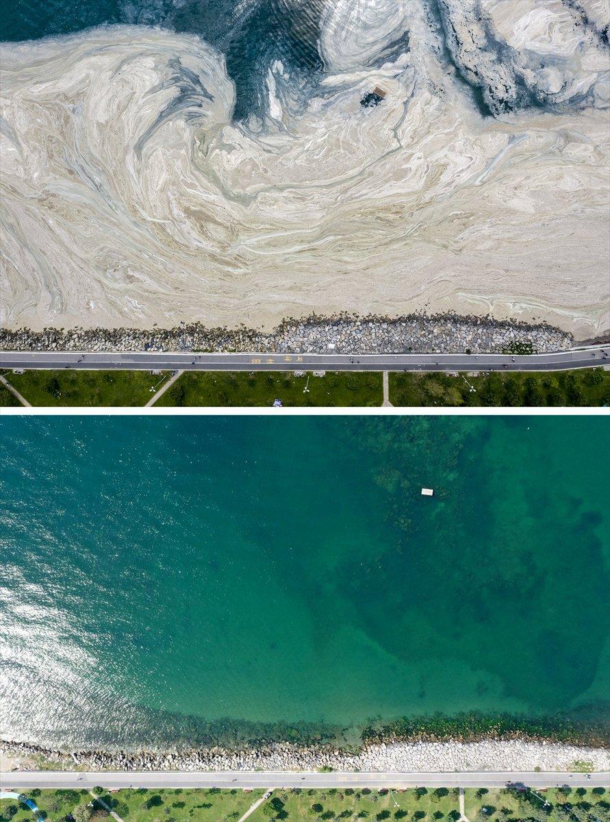 İstanbul sahilleri müsilajdan arındırıldı #4