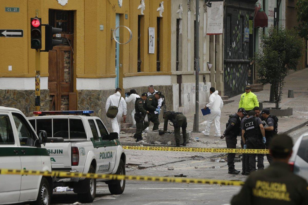 Kolombiya da bombalı saldırı: 14 yaralı #1