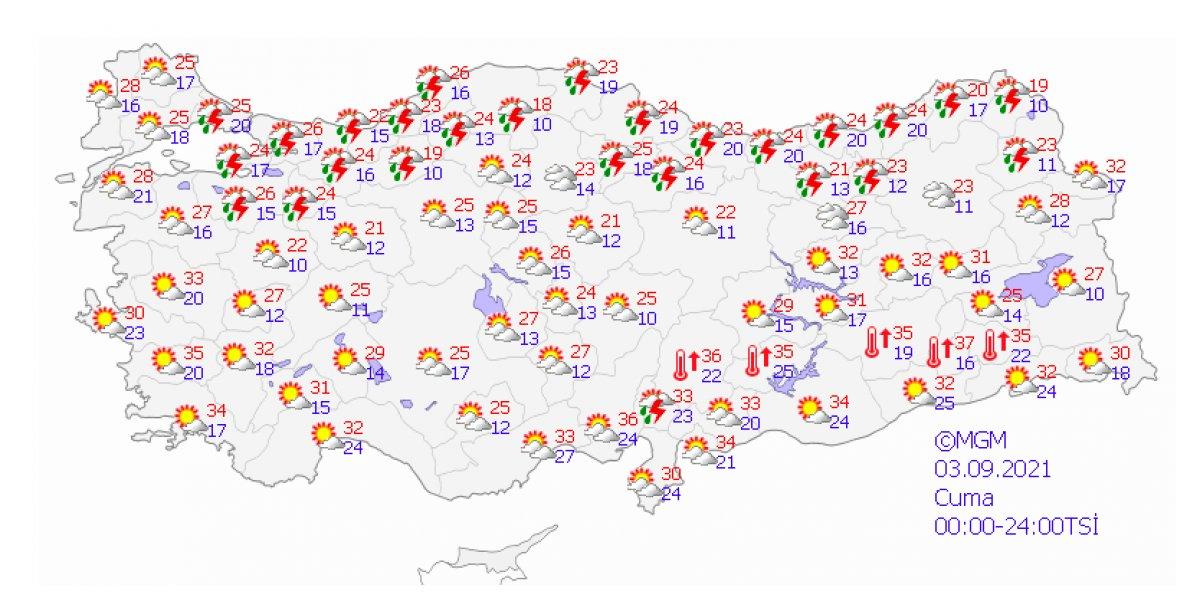 Marmara ve Karadeniz için kuvvetli yağış uyarısı #6