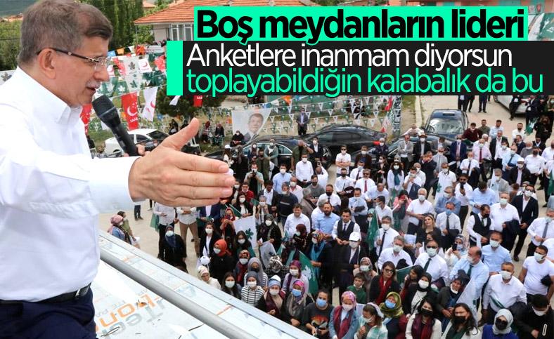 Ahmet Davutoğlu, anketlere inanmadığını söyledi