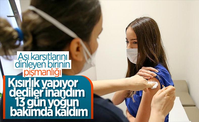 Kayseri'de aşı konusunda kararsız kalan kadın, koronavirüse yakalandı