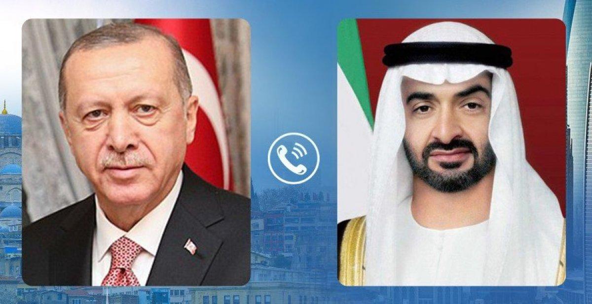 Cumhurbaşkanı Erdoğan, BAE Veliaht Prensi ile görüştü #1