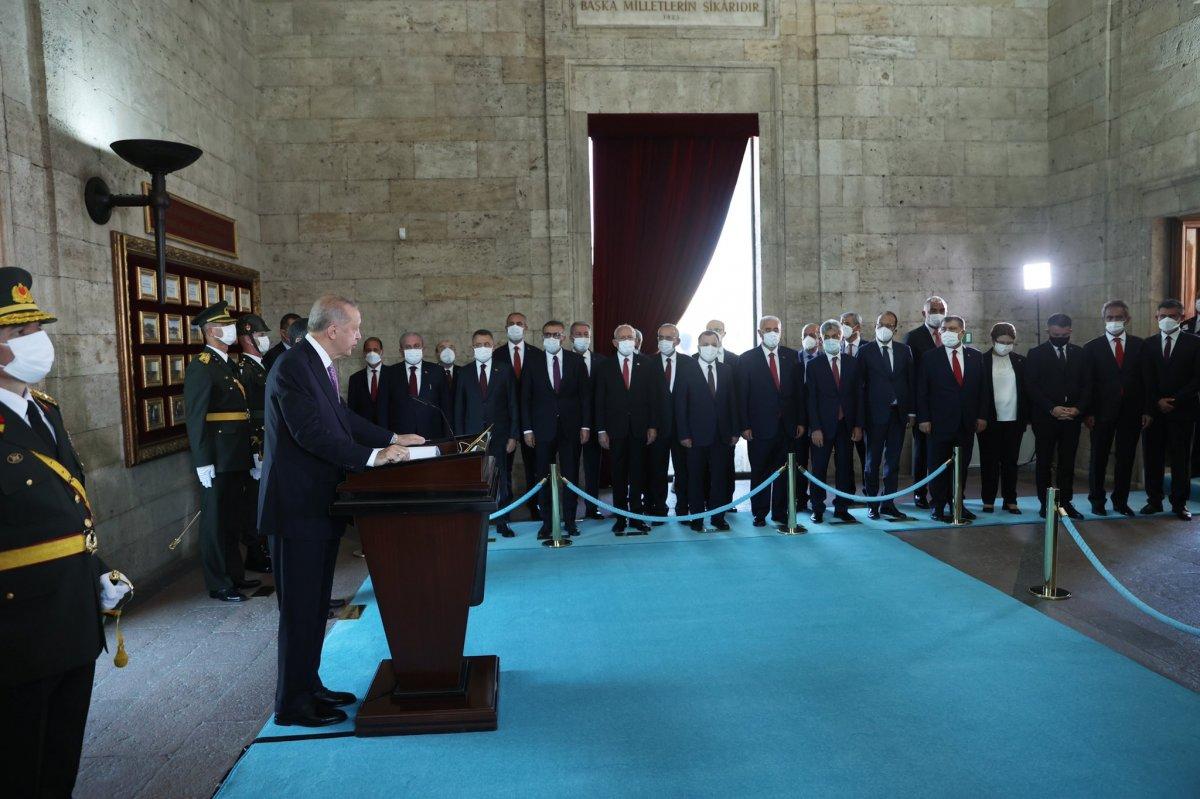 Cumhurbaşkanı Erdoğan ve devlet erkanı Anıtkabir de  #3