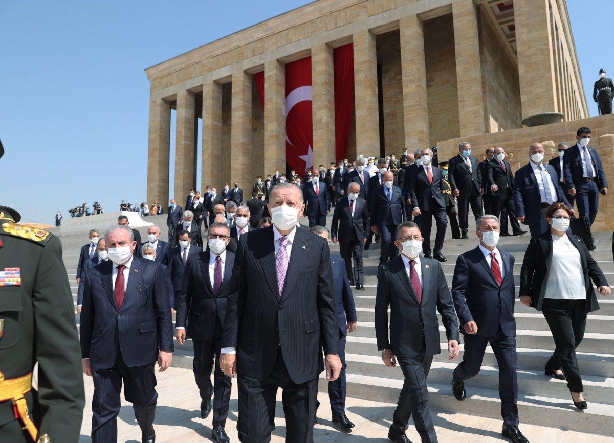 Cumhurbaşkanı Erdoğan ve devlet erkanı Anıtkabir de  #4