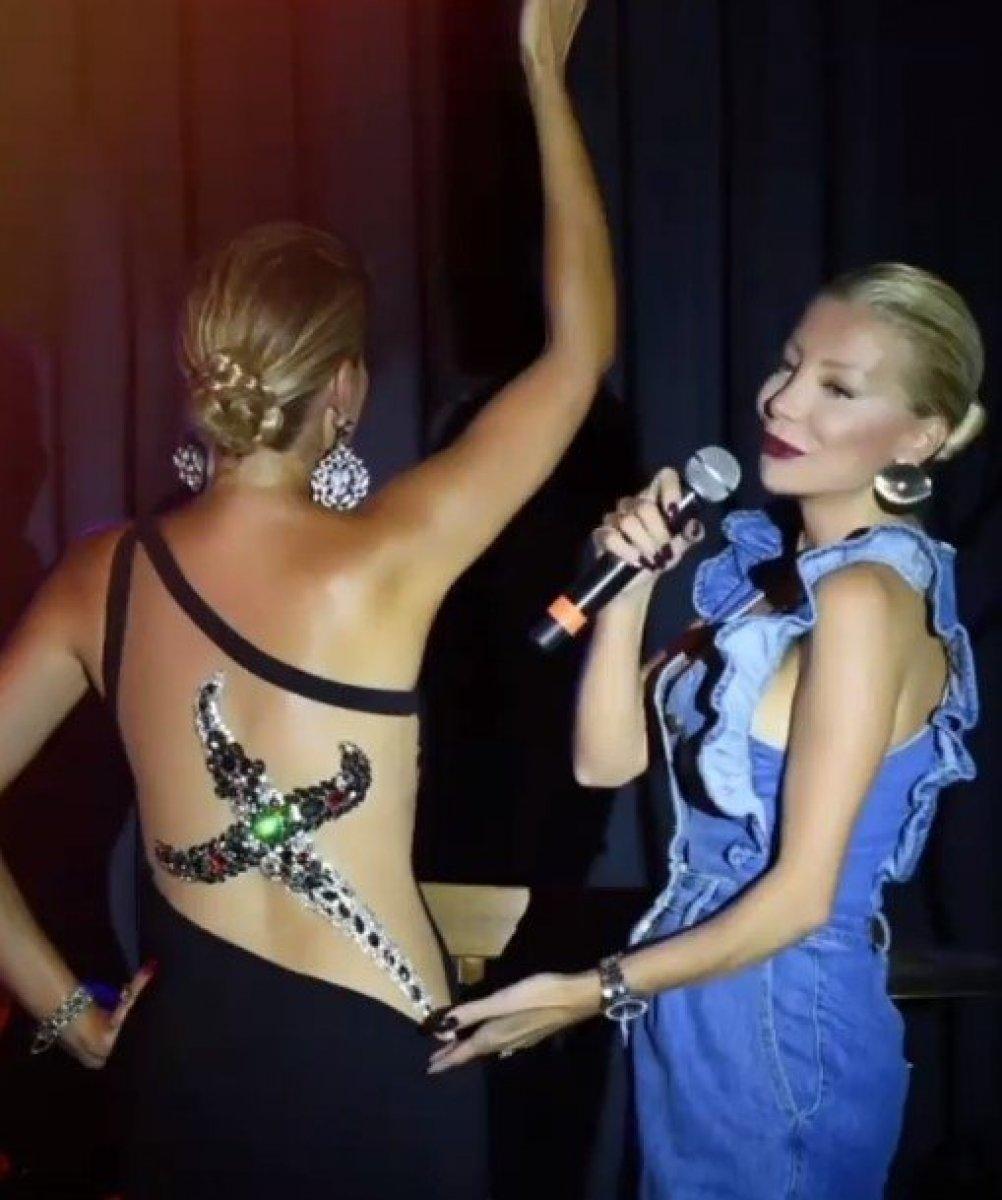 Gülben Ergen den çok ince mesaj!  Hançer  kıyafetiyle sahneye çıktı #2
