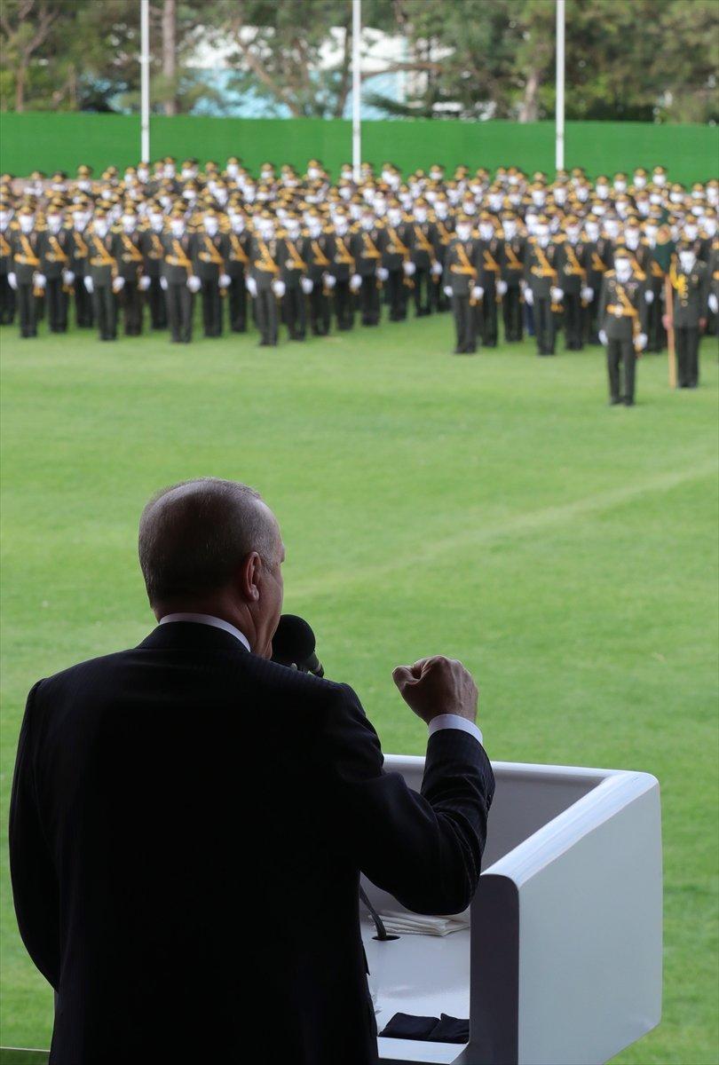Cumhurbaşkanı Erdoğan ın Kara Harp Okulu Diploma Töreni konuşması #6