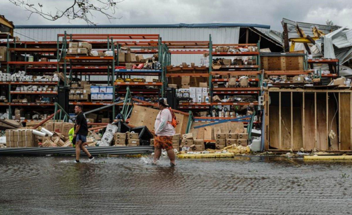 ABD de Ida Kasırgası sırasında Mississippi Nehri tersine aktı #5