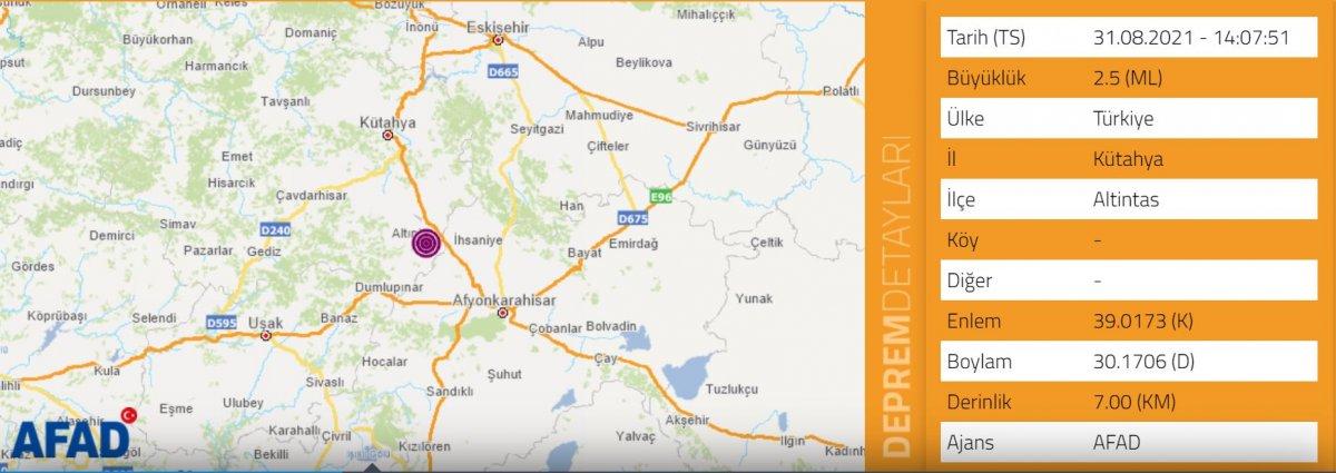 Kütahya da 5 büyüklüğünde deprem #3
