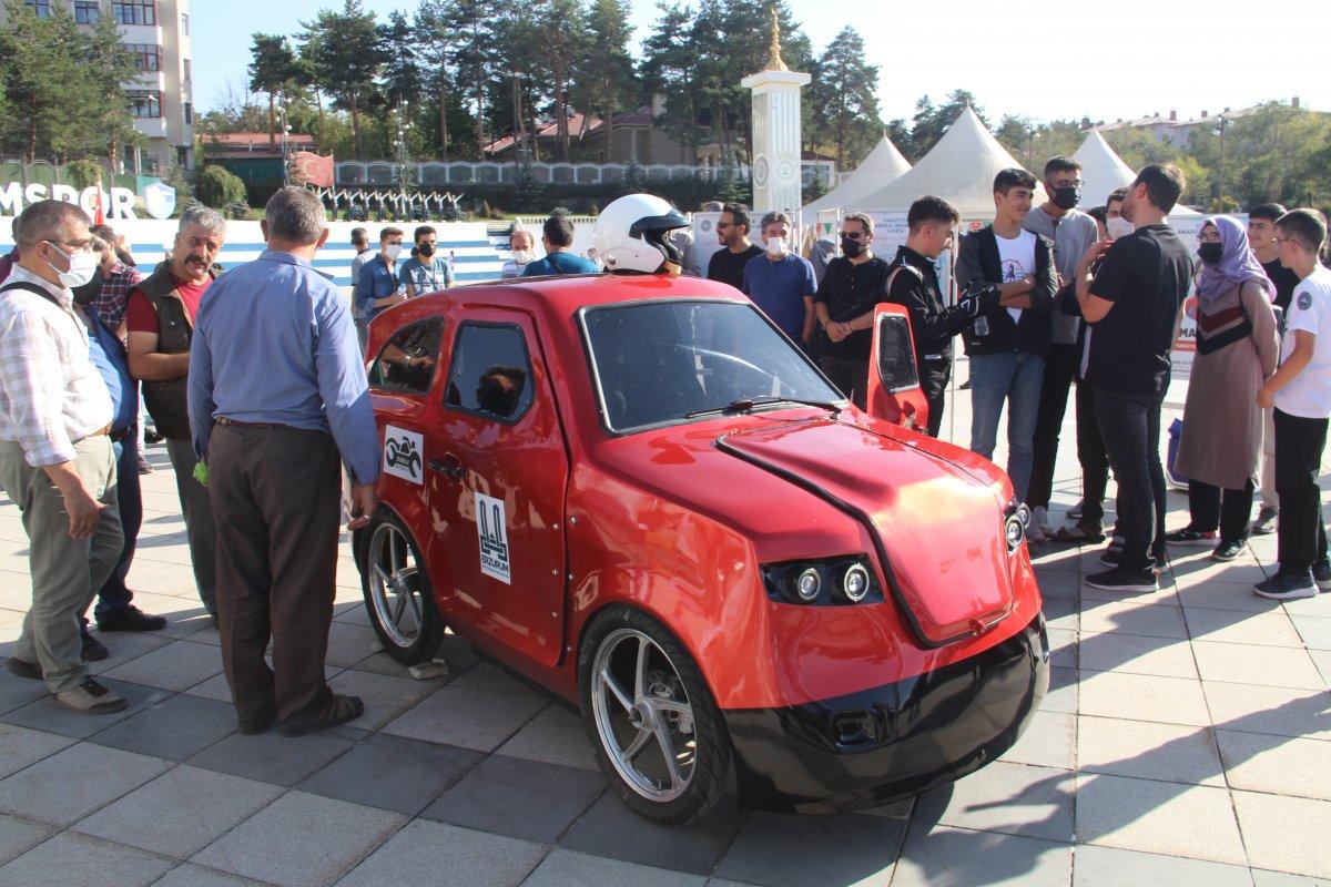 Erzurum da imam hatipli öğrenciler, Tesla ya rakip elektrikli araç üretti #4