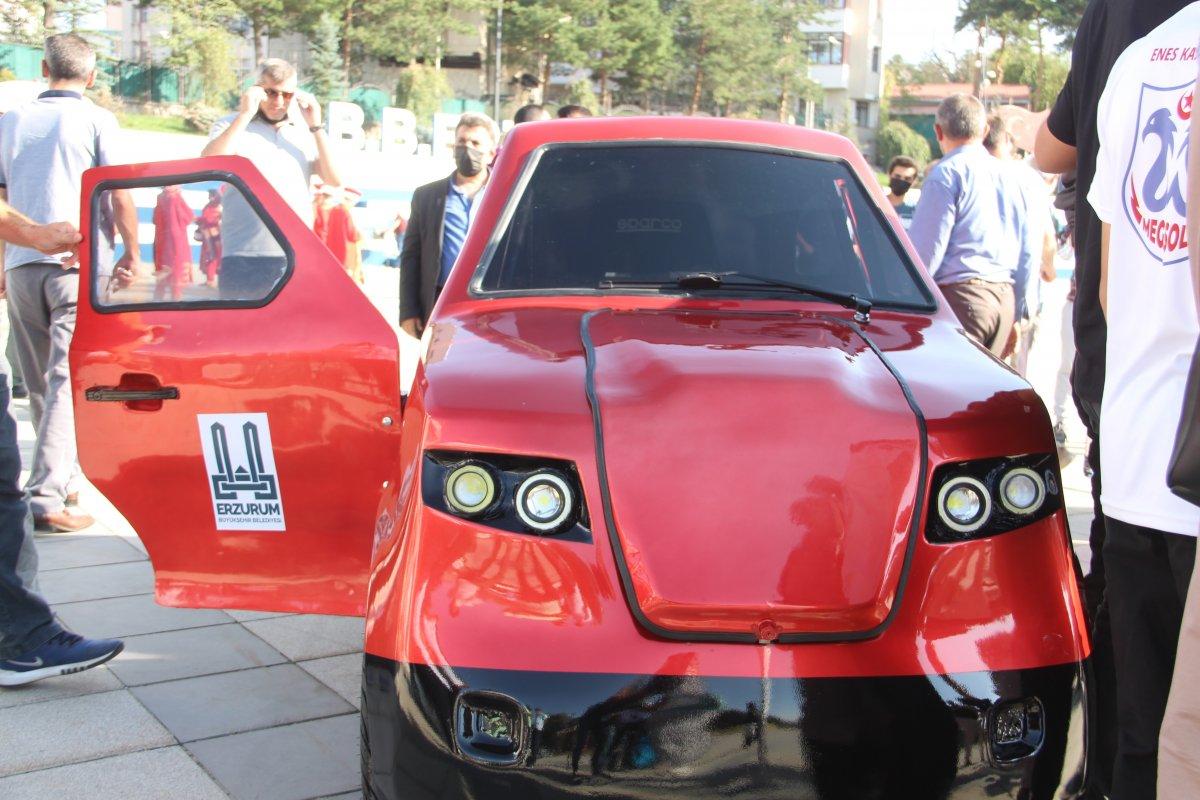 Erzurum da imam hatipli öğrenciler, Tesla ya rakip elektrikli araç üretti #1